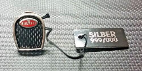 Maße 13x15mm ORIGINAL Bugatti Pin Kühler Logo emailliert 999er Silber