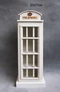 Englische Telefonzelle Schlüsselkasten mit 12 Haken Schlüsselschrank Union Jack