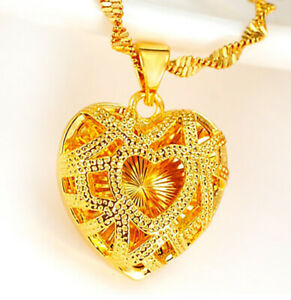 18k-Yellow-Gold-Necklace-Womens-Link-Chain-wGift-Pkg-D9740