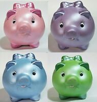 Piggy Bank Money Coin Save Ceramic Decorative Small Pig Pink Blue Green Purple