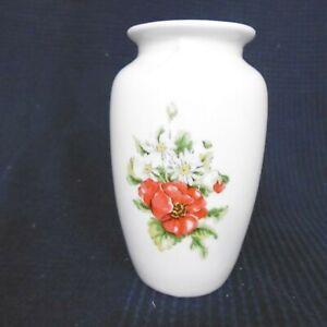 Florero De Porcelana Ornamentación Flor Hecho China Estilo Luis Vintage