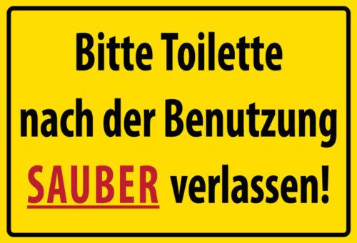 Toilette sauber verlassen Blechschild Schild gewölbt Metal Tin Sign 20 x 30 cm