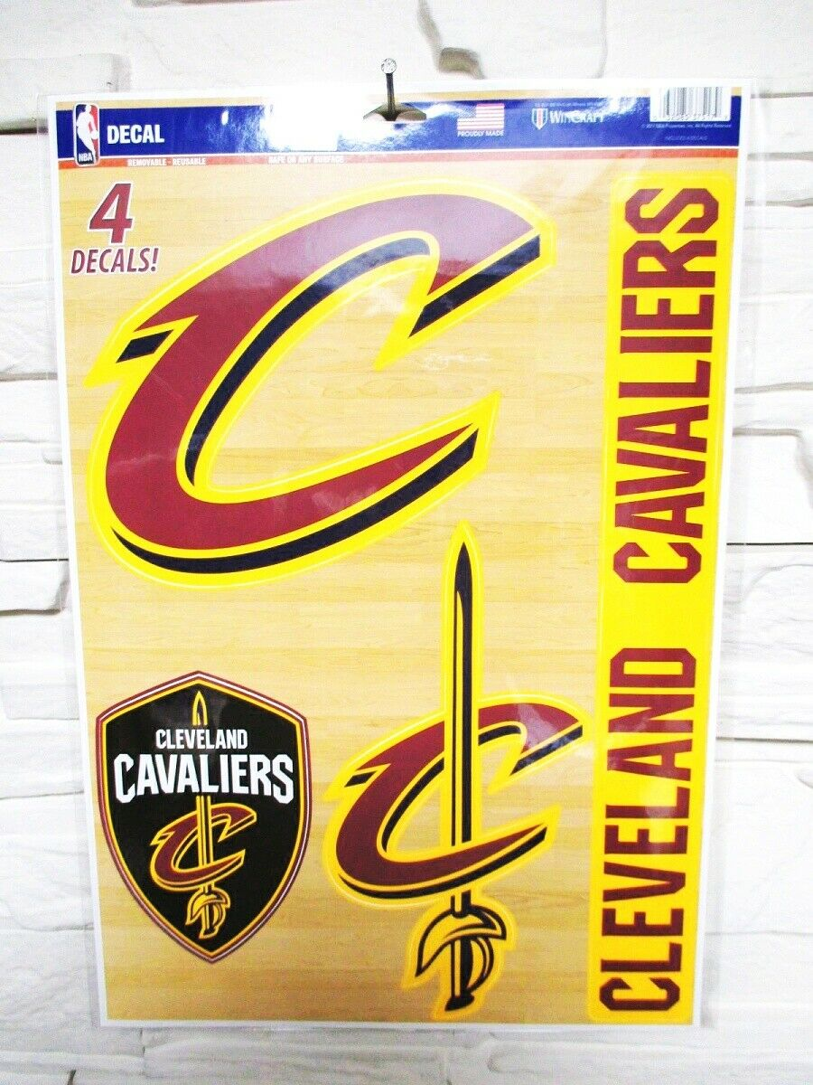 Cleveland Cavaliers 4 Pegatina Calcomanía Insignias Set NBA Basketball