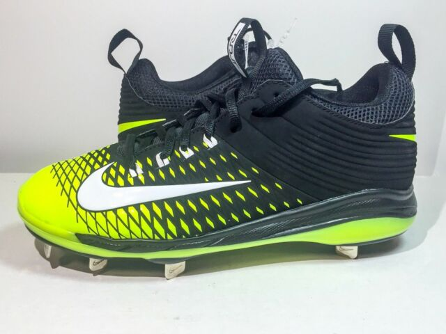 2128ad070 BRAND NEW NIKE MIKE TROUT 2 MENS PRO METAL BASEBALL CLEATS Black Neon SIZE  8.5