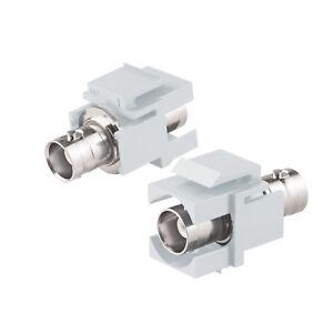 Keystone Modul Klinkenbuchse 3,5mm Stereo Kabel weiß SNAP-IN Verbinder