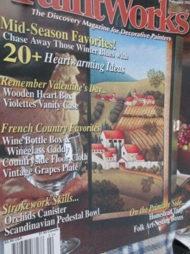 Paint Works February 2005 Magazine-Country Scenes/Angel Weathervane Still Life/C