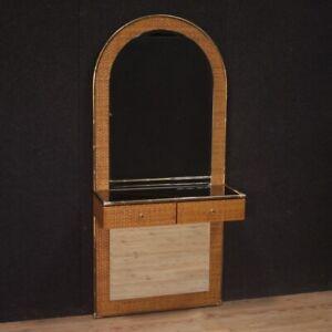 Console-con-specchiera-mobile-di-design-moderno-stile-vintage-in-legno-tavolo