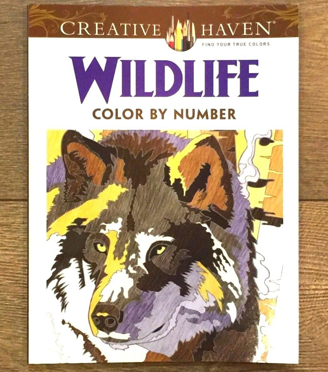 Adult Coloring Creative Haven Wildlife Color By Number Book Diego Jourdan Pereira 2015 Paperback