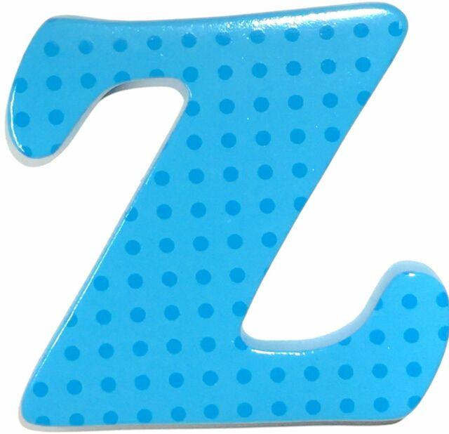 "NEW Bobble Art Door Letter ""Z"" Small Dots Blue Partyware Gifts School"