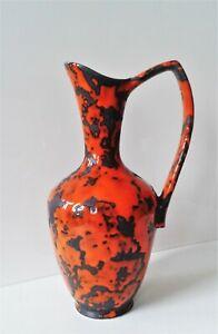 P-KERAMIK Vase Krug orange Fat Lava WGP 60er 70er