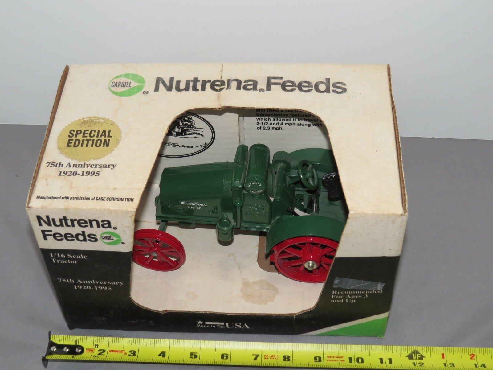 Vintage International IH 8-16 Tractor CARGILL Nutrena Edition RARE NIB 1 16