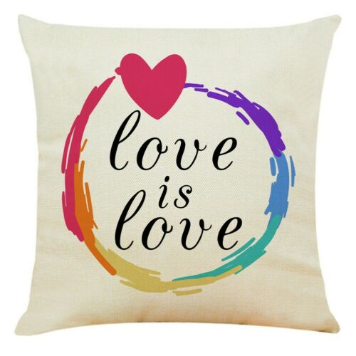 18 Inch Happy Valentine/'s Day Linen Throw Pillow Case Sweet Love Cushion Cover