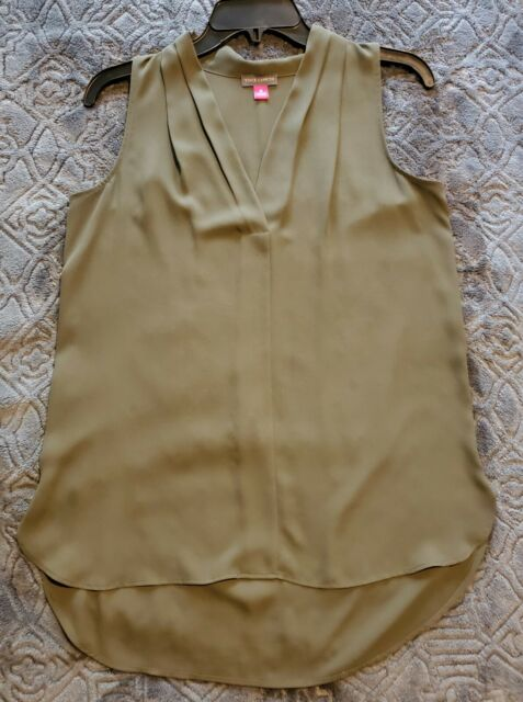 Vince Camuto Olive Green Sleeveless Top Size XS