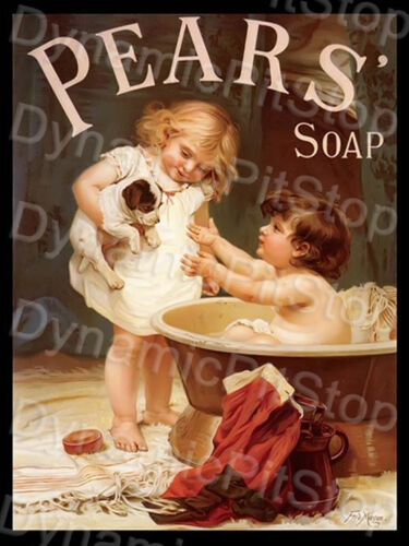 30x40cm Pears Soap Bath Tin Sign or Decal