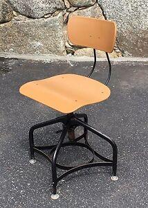 Image Is Loading Vintage Modern Toledo Metal Furniture Co Swivel Art