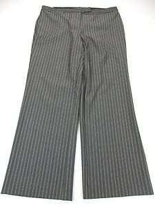 2b043513893bc LANE BRYANT  SIZE 16 WOMEN S BROWN STRIPED STRETCHY DRESS PANTS