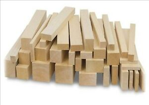 "VARIOUS THICKNESS AND WIDTHS 6/"" LENGTH BALSA WOOD BLOCKS CRAFTS WOODWORKING."