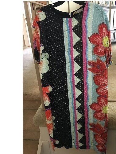 NWT ETRO MULTIFärg DRESS.storLEK 50 (US14)