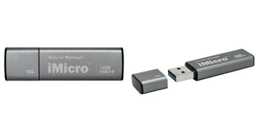 iMicro USB 3.0 Password Protection Flash Drive Sliver Grade silver gray