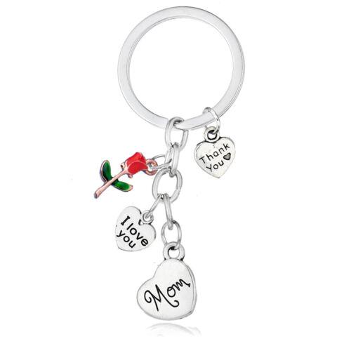 Love Heart BIRTHDAY Gift Keyring Mom Dad Sister Daughter Keychain Gifts keepsake