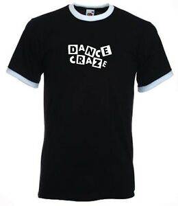 SKA-Mens-Ringer-Tees-Slim-Fit-Dance-Craze-The-Selector-Madness-Small-to-3xl