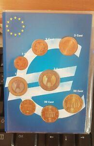 Série Euro 8 pièces 1 cent à 2 Euro, ALLEMAGNE 2002. UNC