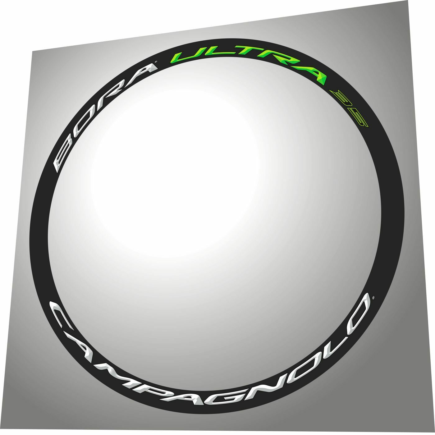 CAMPAGNOLO BORAULTRA 35 CANNONDALE GREEN REPLACEMENT RIM DECAL SET FOR 2 RIMS