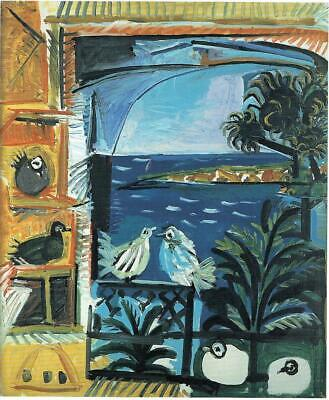 The Pigeons Pablo Picasso 1957 Poster Canvas Picture Art Print Premium A0 A4