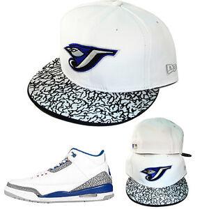 New Era Toronto Bluejays 5950 Fitted Hat Air Jordan 3 Retro Grey ... 0fc03e586