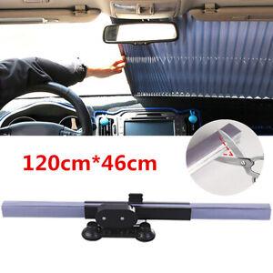Auto-Windschutzscheibe-Sonnenschutz-Aluminium-Blende-schneidbar-Vorhang-120x46cm