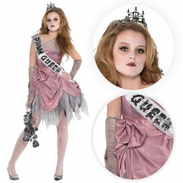 Halloween Costumes For Girls Age 10.Teen Zom Queen Costume Girls Prombie Halloween Fancy Dress Horror Prom Outfit Age 10 12 Years