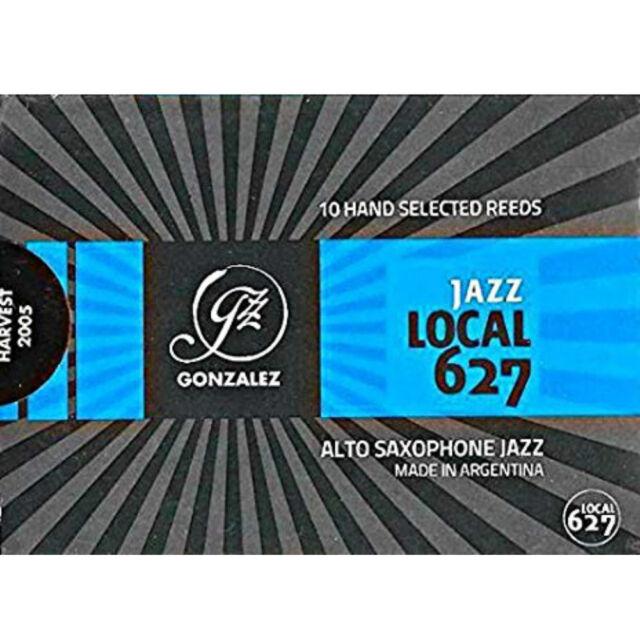 Gonzalez Eb Alto Saxophone 'Local 627' Jazz Reeds Strength 2.5, Box of 10
