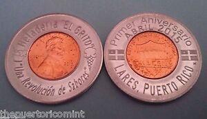 2015 ENCASED COLLECTORS INTERNATIONAL featured PUERTO RICO Lucky penny Anillado