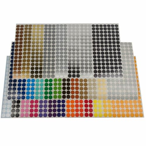 105 pack 1//4 inch Round Stickers Color Coding Dot Labels Indoor//Outdoor Vinyl