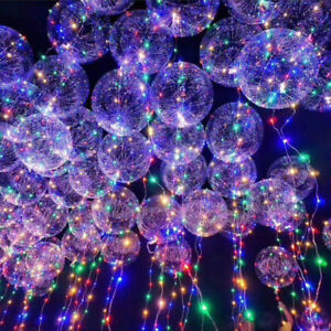 led light balloons transparent balloon wedding birthday xmas party