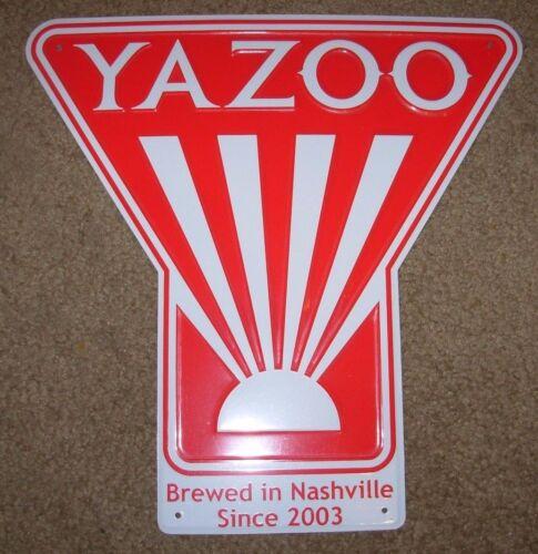 YAZOO BREWING Nashville Sue Dos Perros METAL TACKER SIGN craft beer brewery