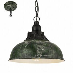 Vintage Luce a Sospensione Ø37cm E27 Verde Antico Lampada da Cucina ...