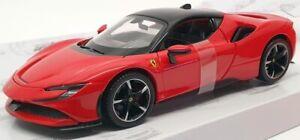 Burago-1-24-Scale-Model-Car-18-26028-Ferrari-SF90-Stradale-Red