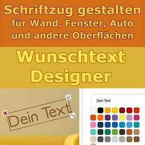 wunschtext aufkleber designer text selbst gestalten auto namen wandtattoo ebay. Black Bedroom Furniture Sets. Home Design Ideas