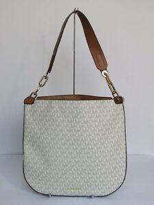 22c8c049238b18 NEW Michael Kors Fulton Large Hobo Vanilla Leather Tote Shoulder Bag ...