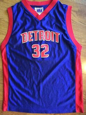 big sale bc1c7 d3d44 DETROIT PISTONS RIP HAMILTON JERSEY VINTAGE RARE RETRO BLUE BASKETBALL NBA    eBay