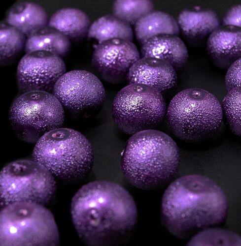 5 Cire Perles Crêpes bruns environ 12 mm DECO BRICOLAGE PERLES décorer