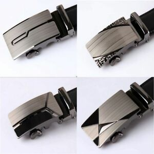 Men-039-s-Leather-Automatic-Belts-Buckle-metal-Head-NO-Waist-Strap-Belt-Waistband