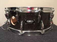 Ocdp Vented Black Gold Sparkle Snare Drum - All Original 5.5X14 15 Ply