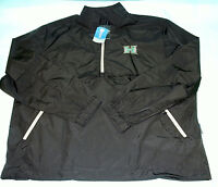 Oxford Ncaa Hawaii Rainbow Warriors Men's Ripstop Wind Pullover Large Black/grey