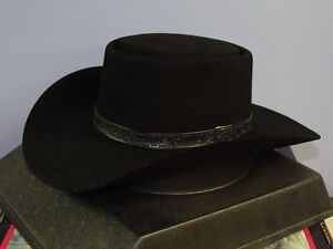 Image is loading STETSON-REVENGER-4X-FELT-GAMBLER-COWBOY-WESTERN-HAT 90d1a8d085a