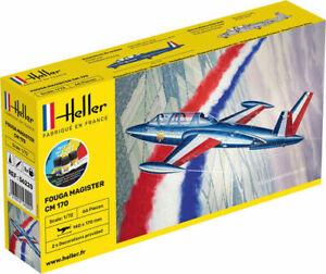 Avion-Fouga-Magister-Maquette-a-monter-Heller-France-echelle-1-72-colle-peinture