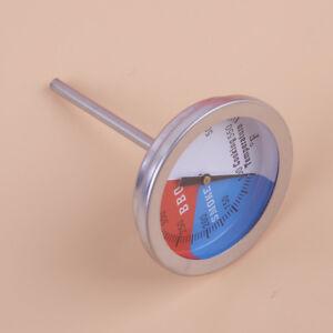2stk-Edelstahl-BBQ-Barbecue-Smoker-Raucher-Grill-Thermometer-Temp-100-550-F-Neu