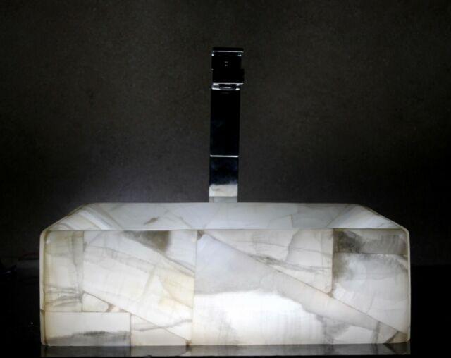 Stone sink vessel sinks onyx bathroom