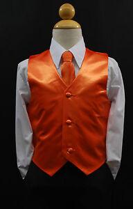 Children /& Toddler BLACK SATIN VEST /& TIE SET for Boy/'s Suit Tuxedo Sz 2T 14